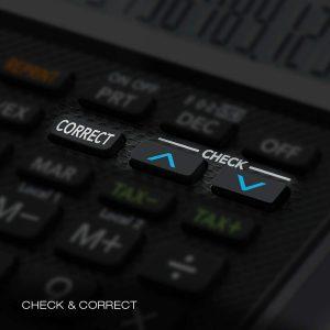 détail calculatrice imprimante Casio HR8RCE